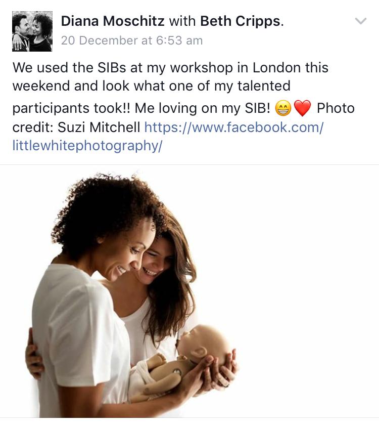 Newborn photography workshops with StandInBaby